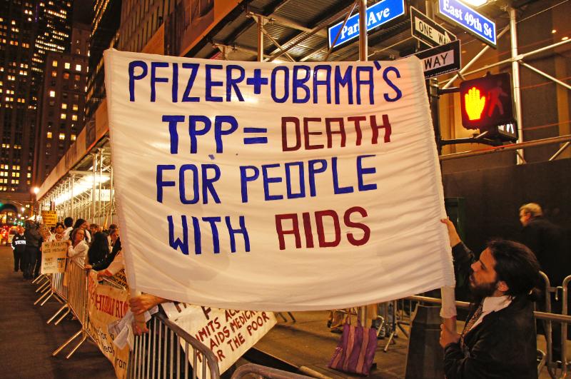 Waldorf Astoria Obama Protest