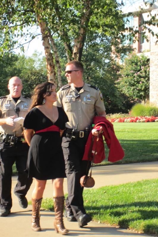 Q'orinaka Kilcher being arrested