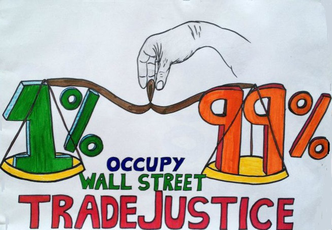Occupy Wall Street Trade Justice logo